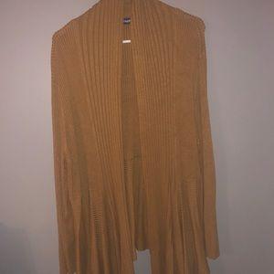 Thicker cardigan. Camel color